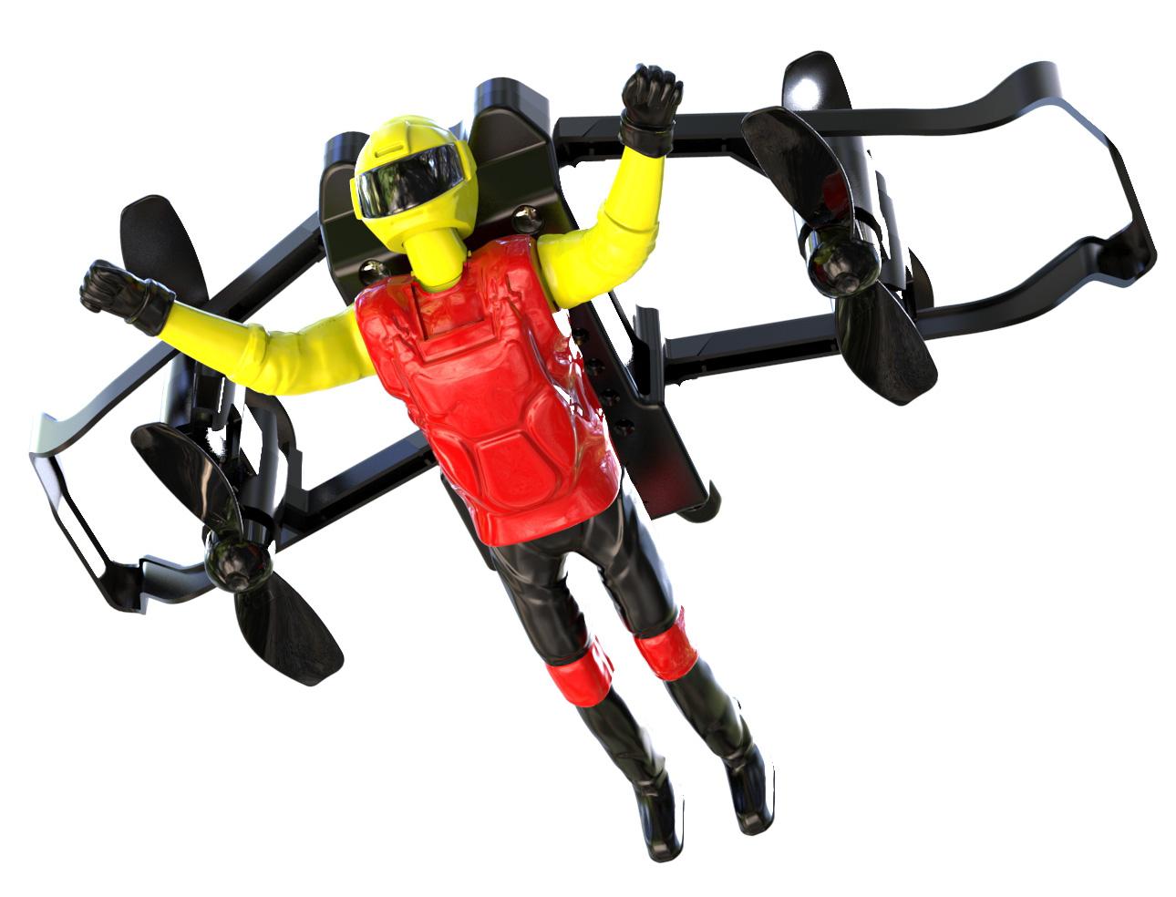 黄色・モーターグライダー